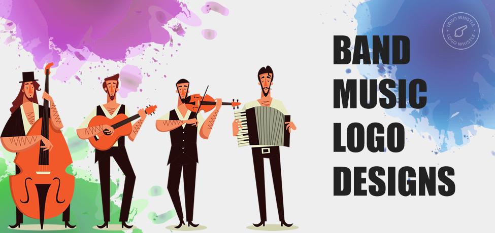 band and music logo design