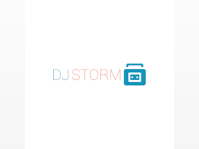DJ storm logo design ideas
