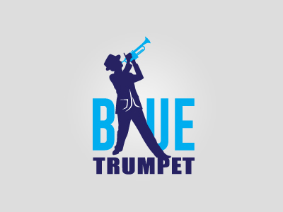 Blue music logo design inspirations