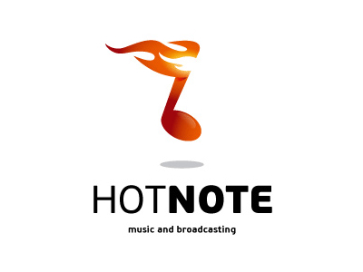 Hot note Music logo design ideas