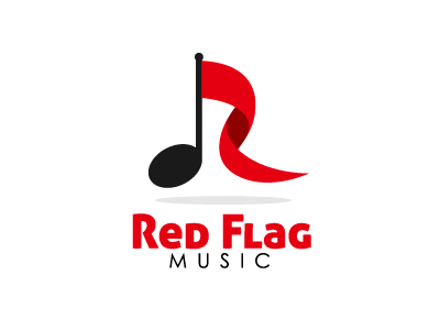 Red Flag Music logo design ideas