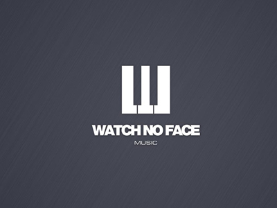 Watch no face music logo design