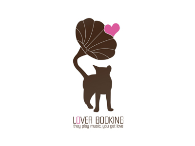 Lover booking music logo design ideas