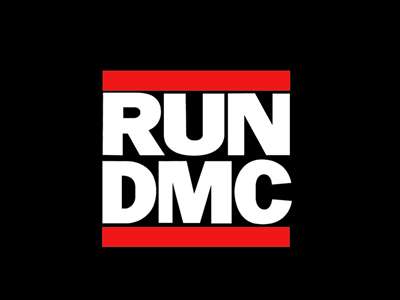 Run Dmc band logo design