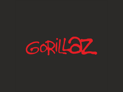 Gorillaz band logo design