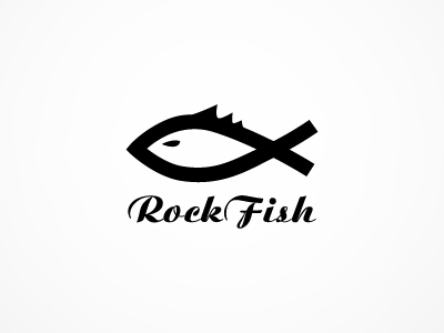 Rock fish band logo design