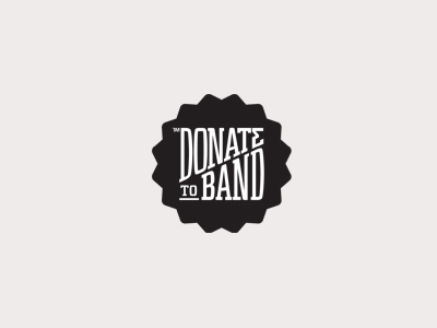 Donate to band logo design ideas