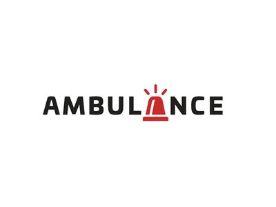 Ambulance font logo design