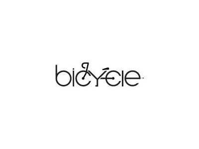 Bicycle font logo design