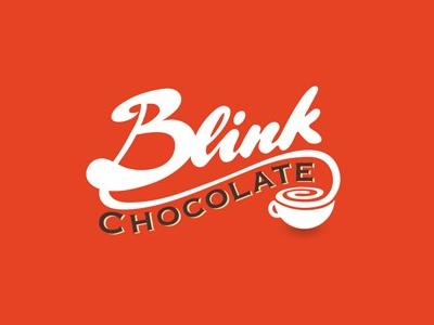 Blink font logo design