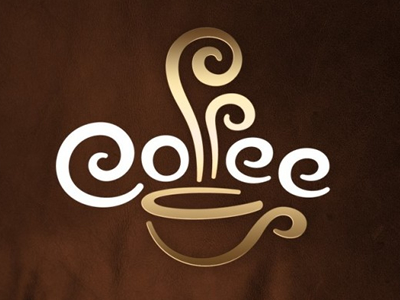 Coffee naming font logo