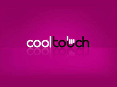 Cool touch text logo design