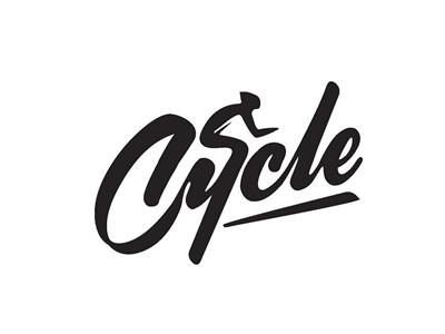 Cycle naming logo design
