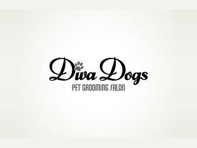 Diva dogs font logo designs