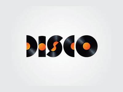 Disco font logo design