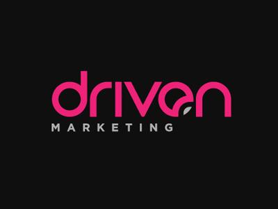 Driven font logo design