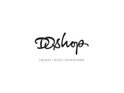 Dshop font logo designs