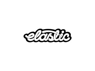 Elastic text logo designs