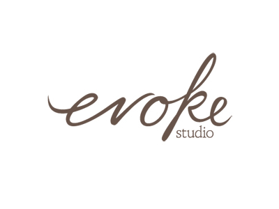 Evoke text logo designs