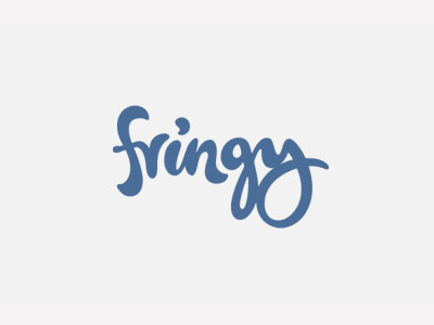 Fringy font logo designs