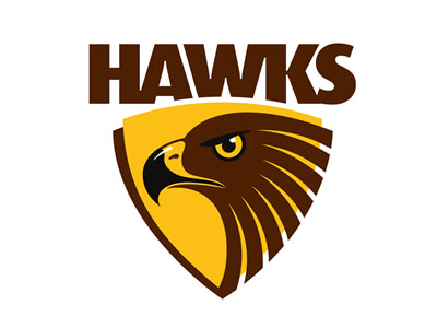HAWKS fc football logo design