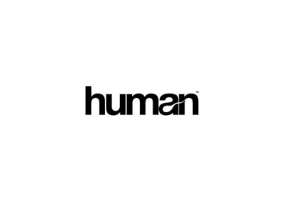 Human text logo design