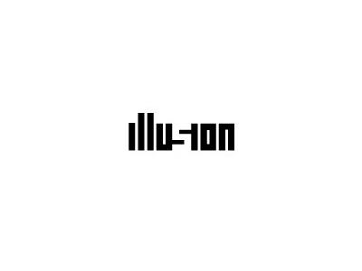 Illution text logo deign