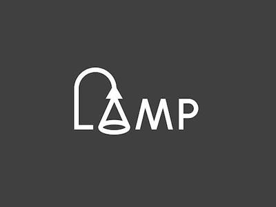 Lamp font logo design