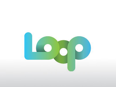 Loop text logo design