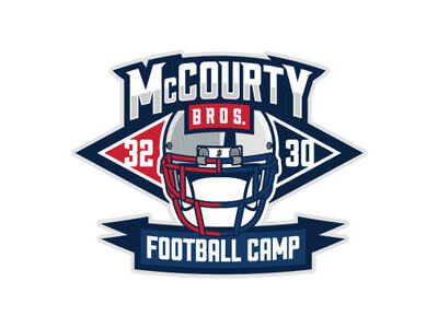 M-courty football logo design