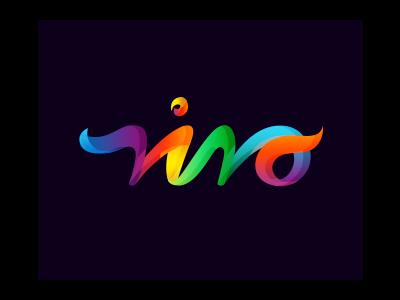 Niro text logo design