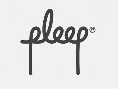 Pleep font logo designs