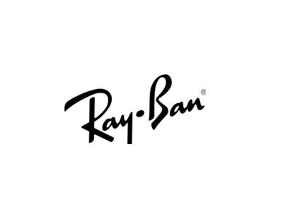 Ray Ban text logo design
