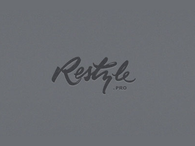 Restyle font logo design