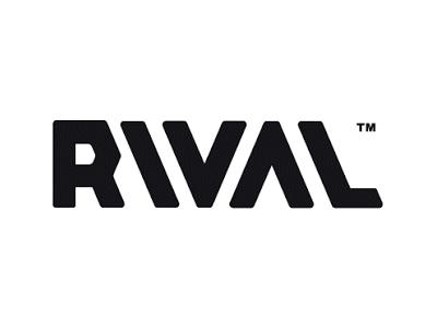 Rival font logo design