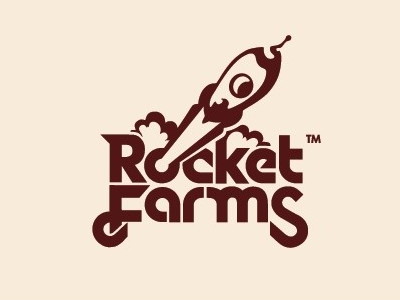 Rocket farms font logo