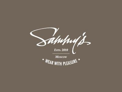 Sammy's text logo design