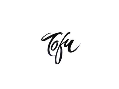 Tofu font logo design