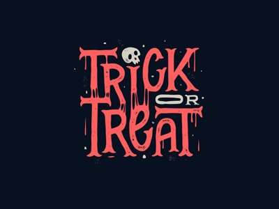 Trick treat font logo design