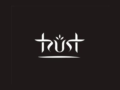 Trust font logo design