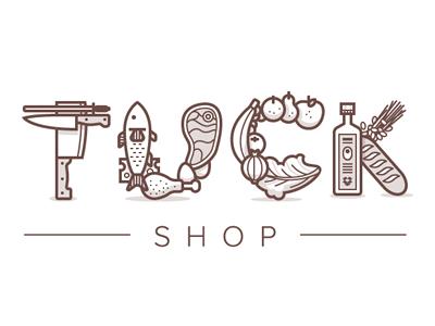Tuck font logo design