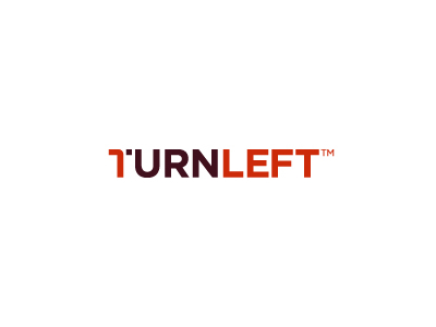 Turnleft font logo design