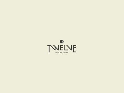 Twelve text logo design