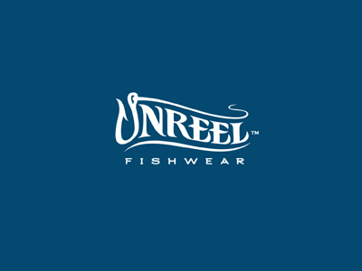 unreel font logo design