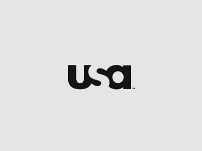 USA font logo design