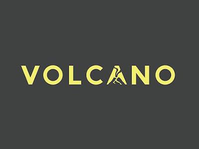 Volcano font logo design