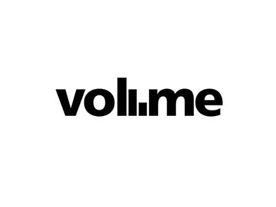 Volume font logo design
