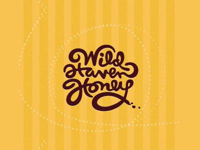 Wild honey font logo