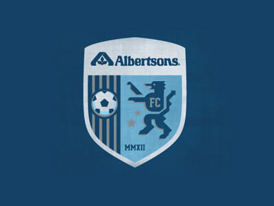 Albertsons football logo design