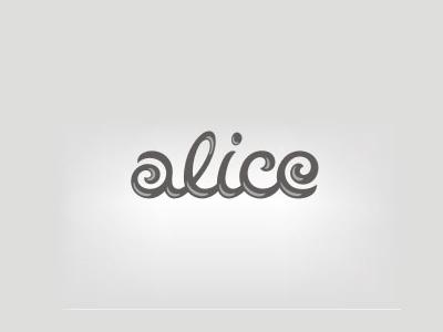 Alice font logo design